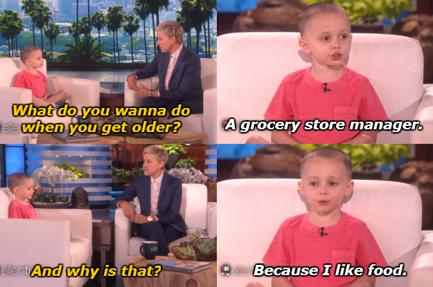 When this kid believed in following his passion for food.