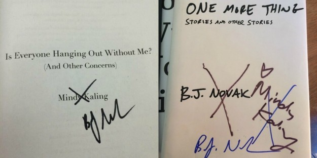 When they had a little book signing war.