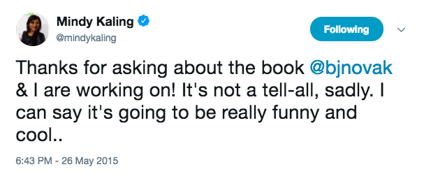 They MAY even have written a book together?