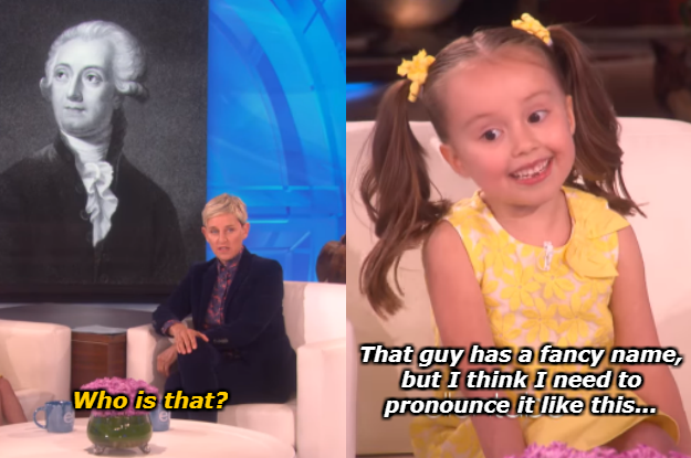 When this genius kid, Brielle, taught us how to pronounce the French way.