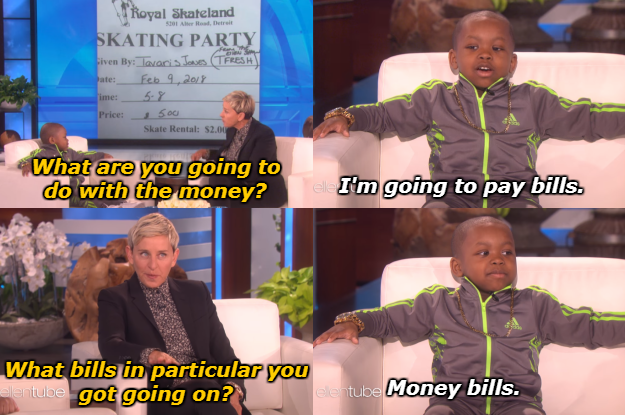When Tavaris was the only five-year-old kid concerned about paying bills.