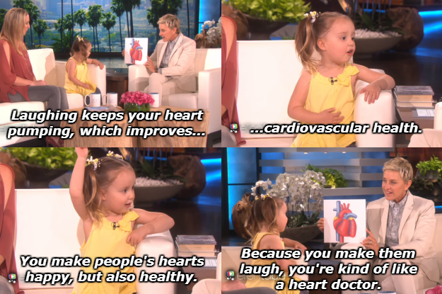 When Brielle called Ellen a heart doctor, and made her blush.