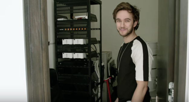 A server room that he mistook for another room because THERE ARE SO MANY ROOMS.