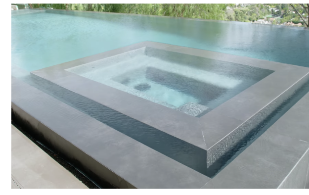 A pool that is always at 97 degrees.