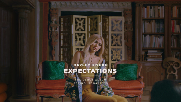 """But I've saved the best for last, and by the """"best"""" I mean Lesbian Jesus aka pop star Hayley Kiyoko. Because in her words it's 20GAYTEEN. And that means gays aren't just out here stanning pop stars, they can be pop stars TOO. Her album Expectations is out now and I cannot stop listening."""