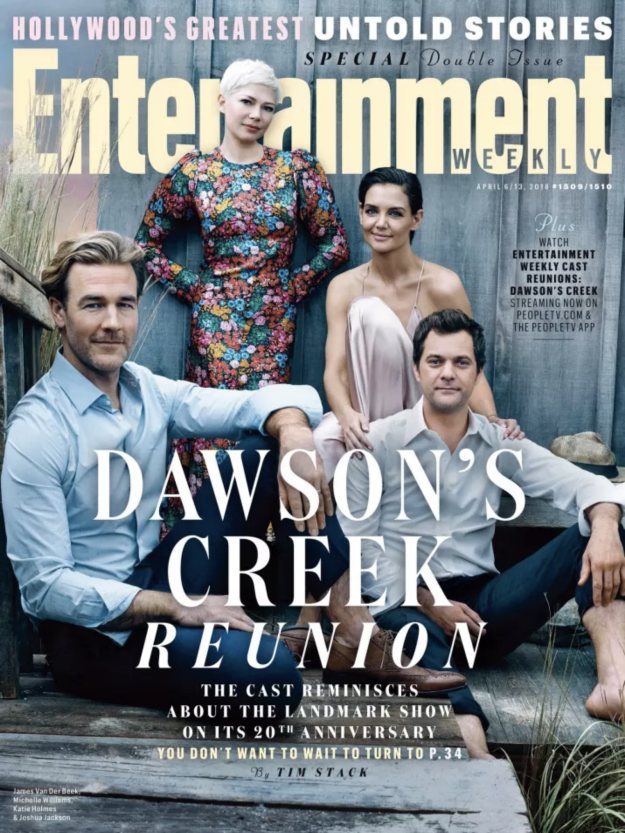 In case you were absent this ENTIRE week from the internet, Entertainment Weekly reunited the cast of Dawson's Creek in honor of the show's 20th anniversary, and everything was too much for my millennial heart.
