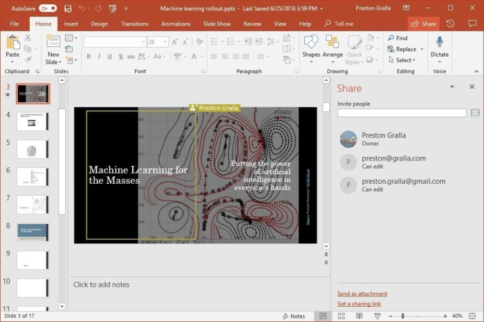 powerpoint 2016 collaborating