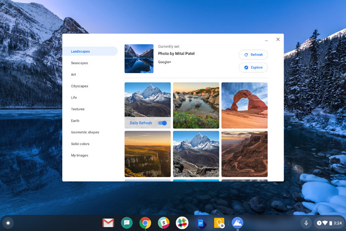 New Chromebook Features: Wallpaper Picker