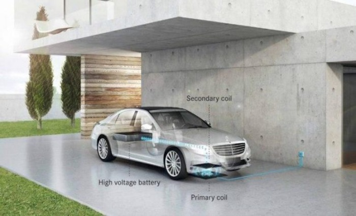 Daimler WiTricity wireless charging