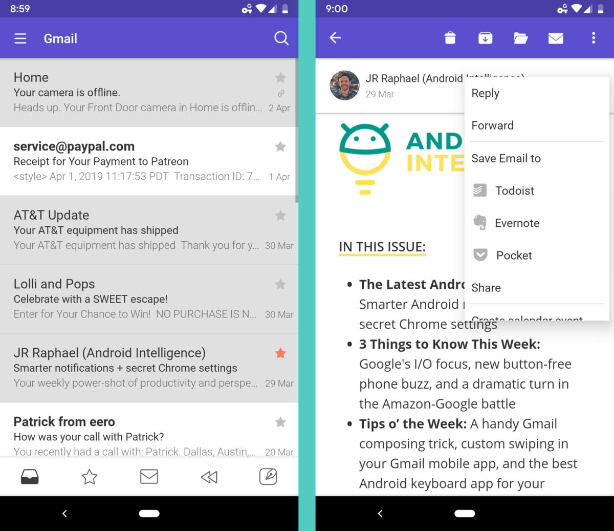 Gmail Alternative Android Email Apps - Newton