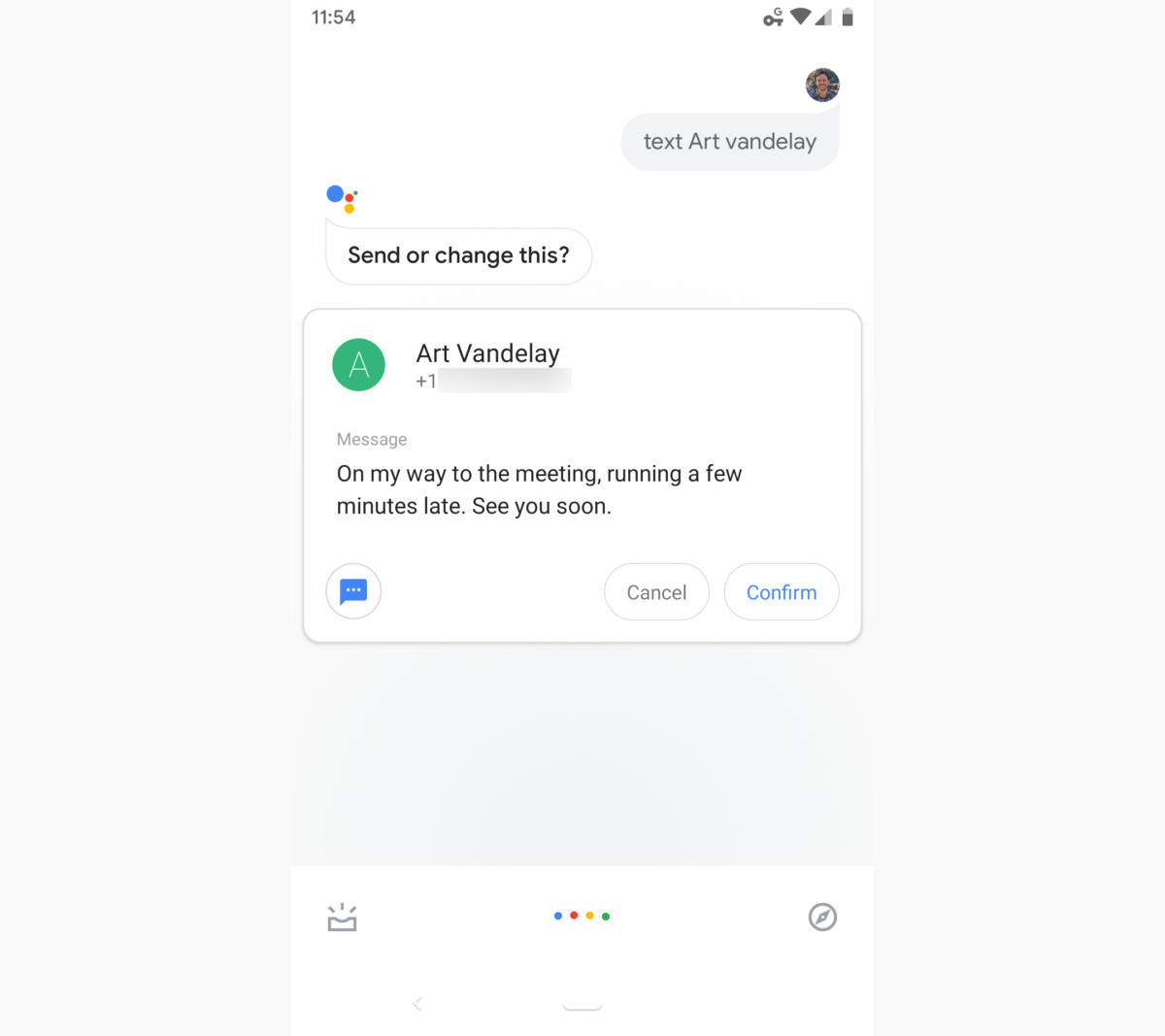 10 google assistant text